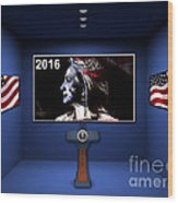 Hillary 2016 Wood Print by Marvin Blaine