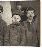 Hine Breaker Boys, 1911 Wood Print