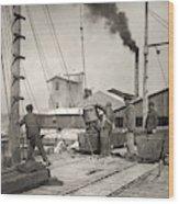Hine Oyster Fishing, 1911 Wood Print