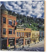 Historic Deadwood Wood Print
