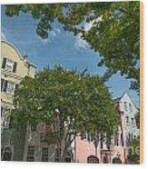 Historic Rainbow Row Wood Print