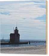 Holland Lighthouse Wood Print