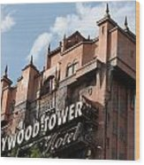 Hollywood Tower Wood Print