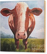 Holy Cow Wood Print by Paula Marsh