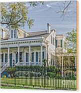 Home On St. Charles Ave - Nola Wood Print