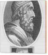 Homer, Ancient Greek Epic Poet Wood Print by Photo Researchers