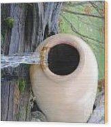 Honey Pot Water Fall Wood Print