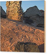 Hoodoos At Sunset Wood Print
