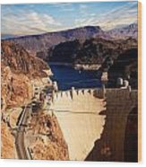 Hoover Dam Nevada Wood Print