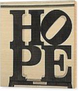 Hope In Sepia Wood Print