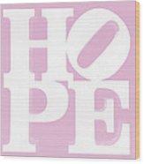 Hope Inverted Pink Wood Print