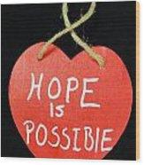 Hope Is Possible Wood Print