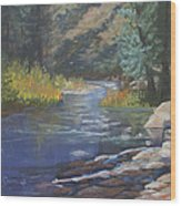 Horse Creek Wood Print