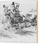 Horse-drawn Carriage Wood Print