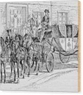 Horse-drawn Coach Wood Print