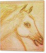 Horse Of The Sun Wood Print