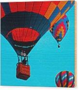 Hot Air Balloon Flight Wood Print