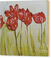 Hot Tulips Wood Print by Shelley Laffal