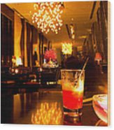 Hotel Lounge Wood Print