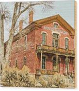 Hotel Meade Wood Print