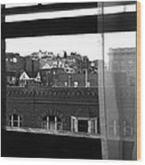 Hotel Window Butte Montana 1979 Wood Print