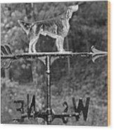 Hound Dog Weather Vane Wood Print
