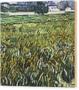 House At Auvers Wood Print