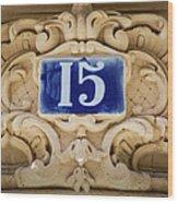 Building Number - Paris Wood Print