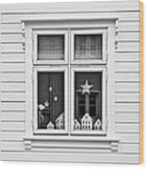 Houses And Windows Wood Print