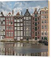 Houses In Amsterdam Wood Print