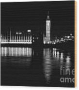 Houses Of Parliament And Big Ben Wood Print