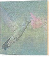 Hummingbird Tune Wood Print