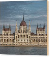 Hungarian Parliament Building Afternoon Wood Print