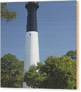 Hunting Island Lighthouse Sc Wood Print