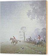 Hunting Scene Wood Print by Ninetta Butterworth