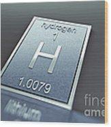 Hydrogen Chemical Element Wood Print