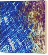 Hydroquinone Microcrystals Color Abstract Art Wood Print