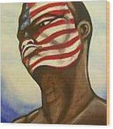 I Am American Wood Print
