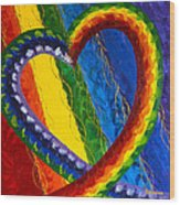 I Am Love Wood Print by Judy M Watts-Rohanna