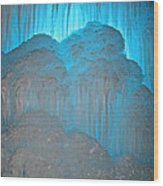 Ice Rising Wood Print