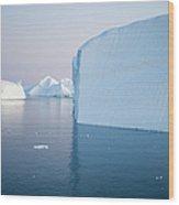Icebergs Of Ilulissat Kangerlua Wood Print