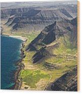Iceland Plateau Mountains Wood Print