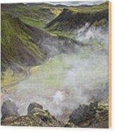 Iceland Steam Valley Wood Print