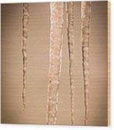 Icicles Wood Print