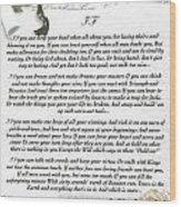 If By Rudyard Kipling Wood Print