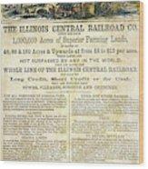 Illinois Railroad Company Wood Print