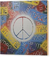 Imagine Peace Wood Print