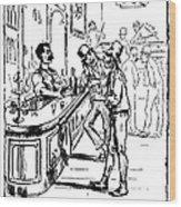 Immigrants: Irish, C1885 Wood Print
