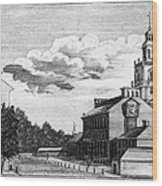 Independence Hall, 1778 Wood Print