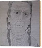 Indian Chief Wood Print by BD Nowlin